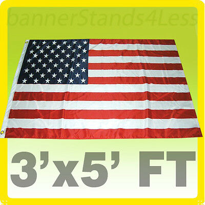 3x5 ft USA US American Flag Stars Grommets United States Polyester b