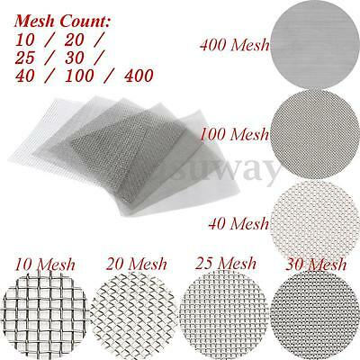 "30x30cm 304 Stainless Steel Woven Wire Filtration Filter Sheet Screen 12""x12"""