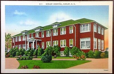 1940's Postcard Shelby Hospital North Carolina