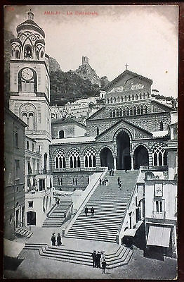Early 1900's Postcard Beautiful Amalfi Cathedral Italy