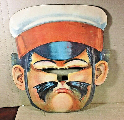 Rare Vintage Early 1900's Sloan & Woodward Co NY Army Soldier Cap Halloween Mask