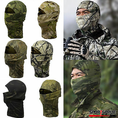 Hunting Warm Fleece Full Face Mask Balaclava Head Neck Cover Scarf Hooded Hat