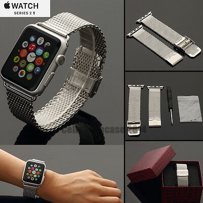 Solid Stainless Steel Strap Wrist Band For Apple series 2 1 Watch iWatch 42mm 38