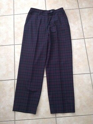 One Up Ladies Golf Trousers. Blue/Red/Green. Size 12.