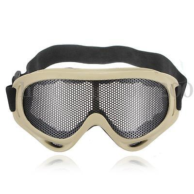 Hunting Tactical Eyes Protection Metal Mesh Pinhole Glasses Goggle Outdoor Steel