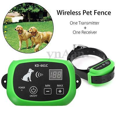 Wireless Pet Dog Fence Waterproof Remote Training Containment System 500M
