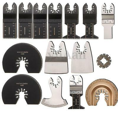 15pcs Mix Saw Blades Oscillating Multitool Kit for ROCKWELL SONICRAFTER WORX