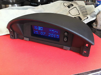 Vauxhall Corsa C, 2000-2006 Lcd Display / Clock And Housing *blue Display*