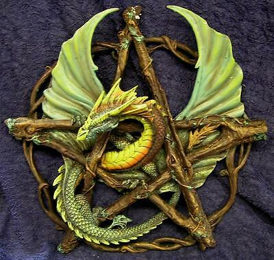 Nemesis Now Anne Stokes FOREST PENTAGRAM DRAGON WALL PLAQUE Wiccan