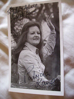 c1970s Photo Print, Patricia Kane, actress signed