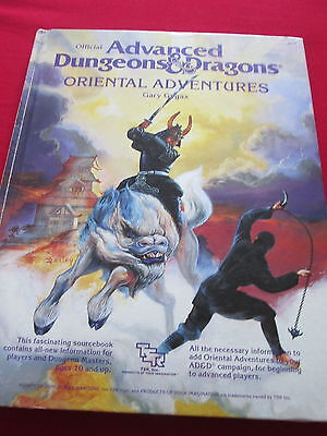 Official Advanced Dungeons & Dragons 'oriental Adventures' Hb Book
