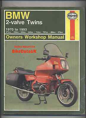 BMW Boxer Twins (70-93) Haynes Manual Book R 100 90 80 75 60 50 S T RT RS GS SP