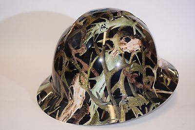 Pyramex Ridgeline Wide Brim HardHat Hydro Dipped in True Timber Hornz Gloss