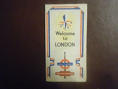 1951 London Transport Welcome to London Leaflet,Festival of Britain