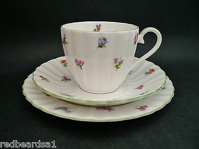 Royal Tuscan Floral Vintage Bone China Trio Tea Cup Saucer Plate c1980's D2938