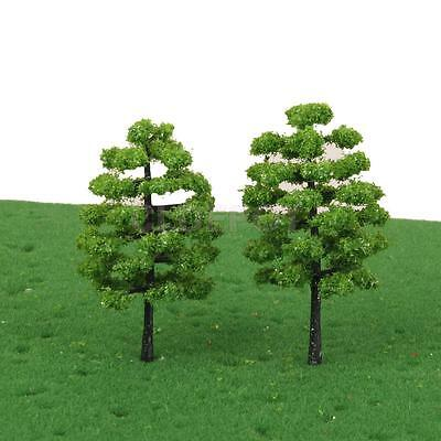 20x Plastic Green Model Trees Train Forest Scenery DIY Toy HO OO 1:100 Scale