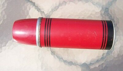 vintage Thermos ICY-HOT  Red with black stripes.