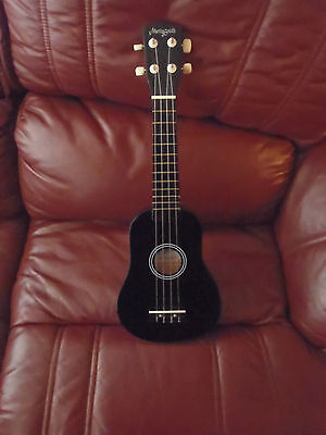 Four String Small Black Ukulele By Martin Smith With Its Carry Case