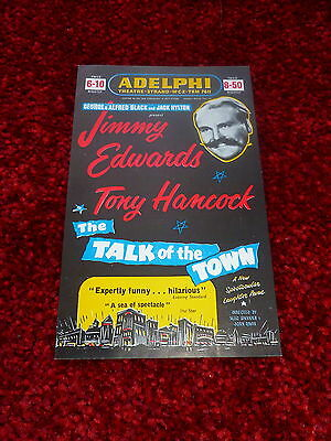 Tony Hancock Jimmy Edwards London Theatre Flyer 1954 The Talk Of The Town Show