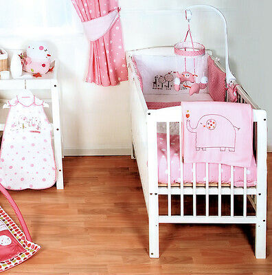 Red Kite Hello Ernest Pink Cosi Cot 4 Piece Bedding Set To Fit Cot And Cot Bed
