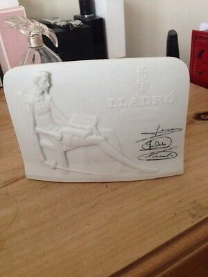 Lladro collectors society free standing plaque Spanish porcelain