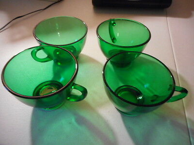 Anchor Hocking Forest Green Punch Cups (4)