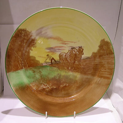 Royal Doulton Plate Heavy Horses Ploughing H4194