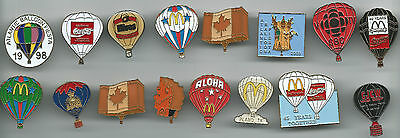 1 Only, Set Of 16, Hot Air Balloon   Hat / Vest Pins
