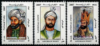 AFGHANISTAN Sc.# 1458-60 National Unity 2007 Late Emperors Stamps