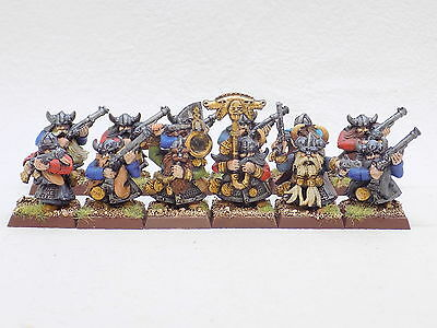 Dwarfs plastic DWARF WARRIORS with MUSKET Handgunners x12 Superbly Painted 37895