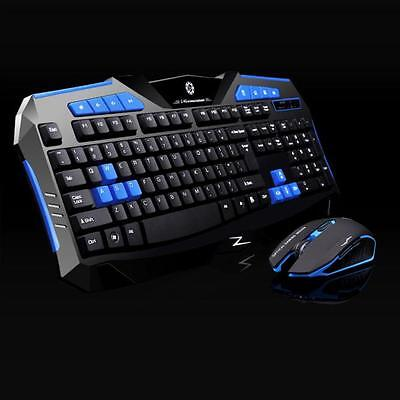 Gaming wireless 2.4G keyboard and Mouse Set to computer Multimedia Gamer New1