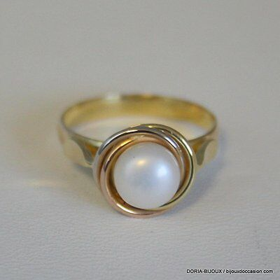 Bague Perle Or 18k 750/000 4.1grs- 58- - Bijoux occasion