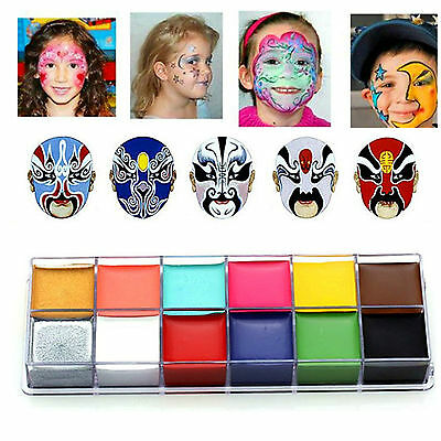 IMAGIC Halloween Professional Face Body Painting Palette Stage Makeup 12 Farben