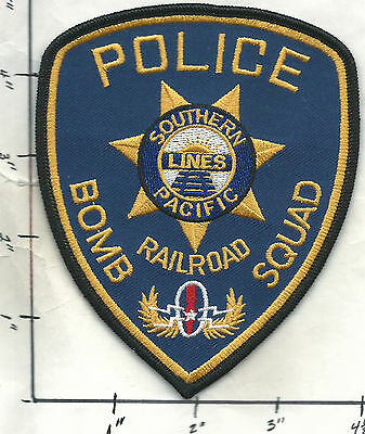 SOUTHERN PACIFIC RAILROAD POLICE- BOMB SQUAD   Patch