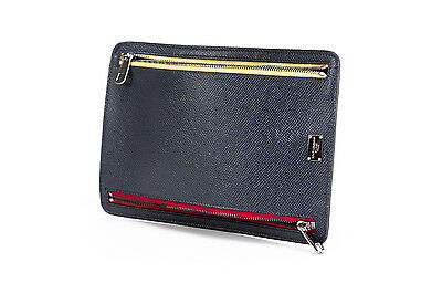 Document Case Holder DOLCE & GABBANA Blue DAUPHINE Leather BP2137 A1001 80658