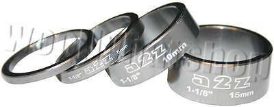 """A2Z CNC 1 1/8"""" Ahead headset spacers 3mm, 5mm, 10mm and 15mm XTR GREY"""