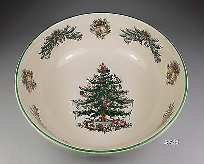 "SPODE CHRISTMAS TREE GARLAND all purpose CEREAL BOWL 7"" x 2 1/2"" bowls - PERFECT"