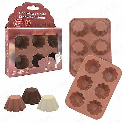 Large 6 Cell Silicone ROUND CHOCOLATE MOULD Professional Artisan Baking Mold Pan
