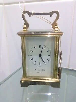 Vintage Brass Carriage Clock By Morrell & Hilton