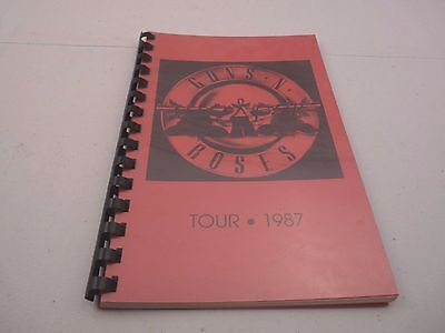 Guns & Roses RARE EARLY 1987 Appetite For Destruction Tour Itinerary Book