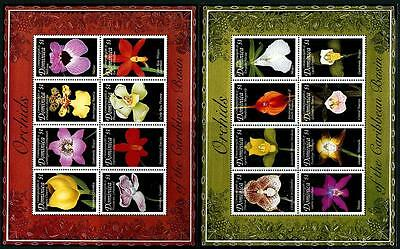 DOMINICA Sc.# 2125-26 Orchids Stamps Sheetlets
