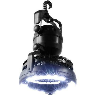 2 in 1 18 LED Camping Lights with Fan Outdoor Portable Tent  Lamp Lantern Hiking