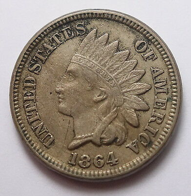 1864 Indian Head Cent - Copper Nickel - Liberty - Nice!