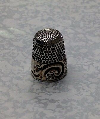 Sterling Silver Ornate Thimble Simmons Bro.