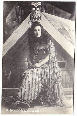Real Photo A Maori Wahine New Zealand.