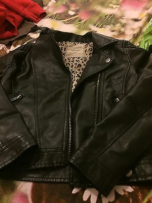 Girls Leather Look Jacket Age 8-9