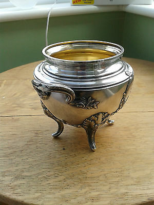 BEAUTIFUL 19thC SOLID SILVER SUCRIER BOWL