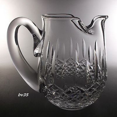 "Waterford Crystal Lismore Jug 6"" - 32 Ounce Pitcher - Ice Lip"