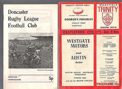4 X Rugby League Programmes 1967-1978