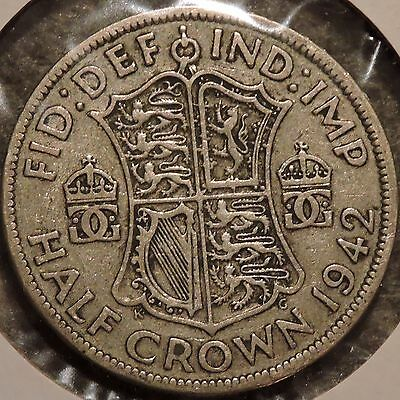 British Silver Half Crown - 1942 - King George VI - $1 Unlimited Shipping